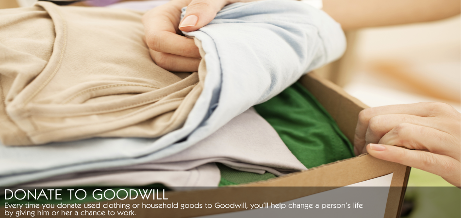 Clothing Donations to Goodwill Industries of Southern Ohio